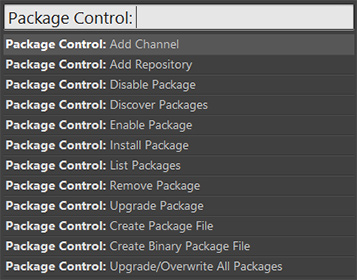 Sublime Text 2 - Package Control